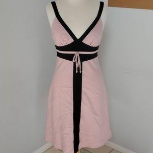 Charlotte Russe Pink Black Vintage Dress